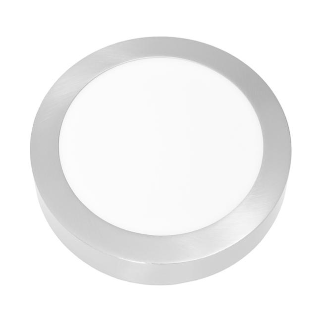LED panel kruhový přisazený 22,5cm, 18W, 2700K, IP20, 1530Lm chrom
