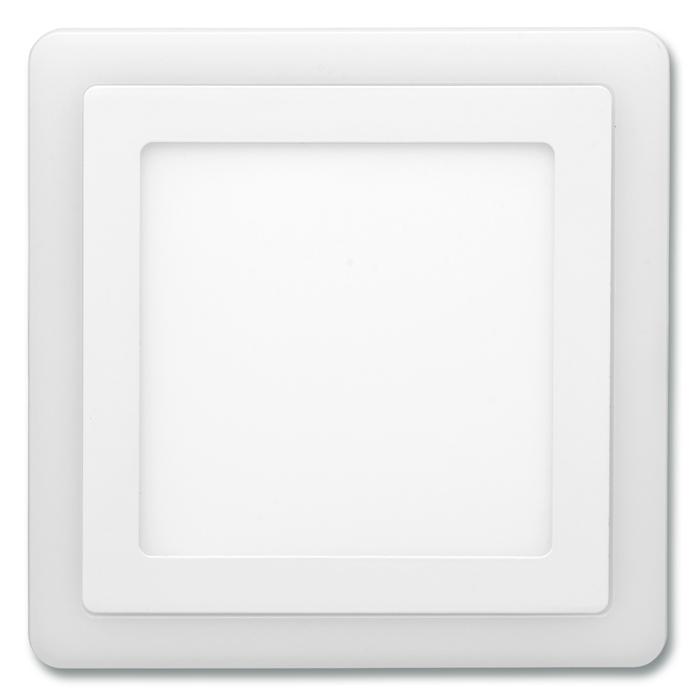 Dvojbarevný LED panel čtvercový do podhledu 24,5x24,5cm, 18W+6W, 4000K+2700K bílý