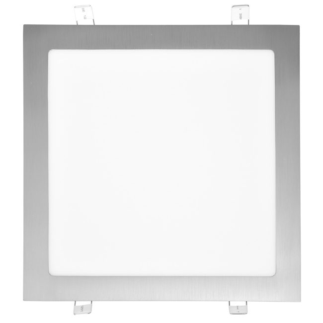 LED panel čtvercový do podhledu 30x30cm, 25W, 4100K, IP20, 2260Lm chrom