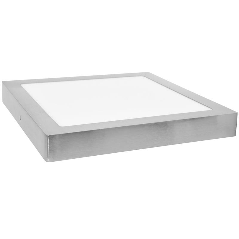 LED panel čtvercový přisazený 17x17cm, 12W, 2700K, IP20, 860Lm chorm
