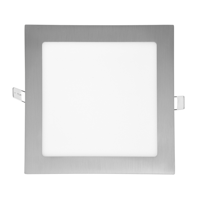 LED panel čtvercový do podhledu 22,5x22,5cm, 18W, 2700K, IP20, 1530Lm chrom