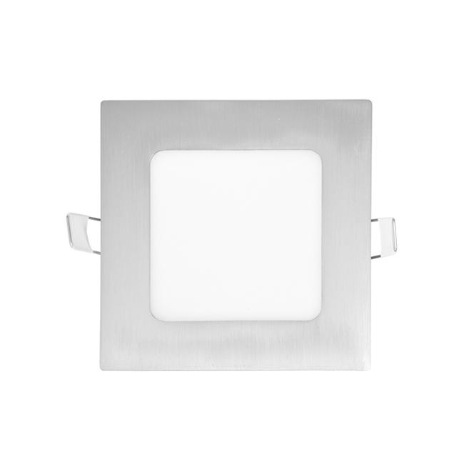 LED panel čtvercový do podhledu 12x12cm, 6W, 2700K, IP20, 420Lm chrom