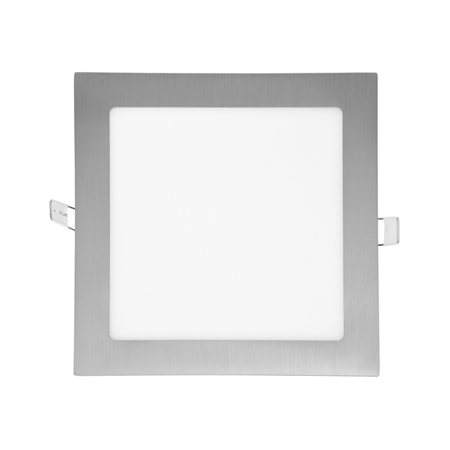 LED panel čtvercový do podhledu 17x17cm, 12W, 2700K, IP20, 860Lm chrom