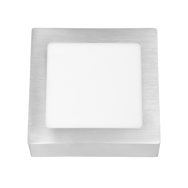 LED panel čtvercový přisazený 17x17cm, 12W, 4100K, IP20, 880Lm chrom