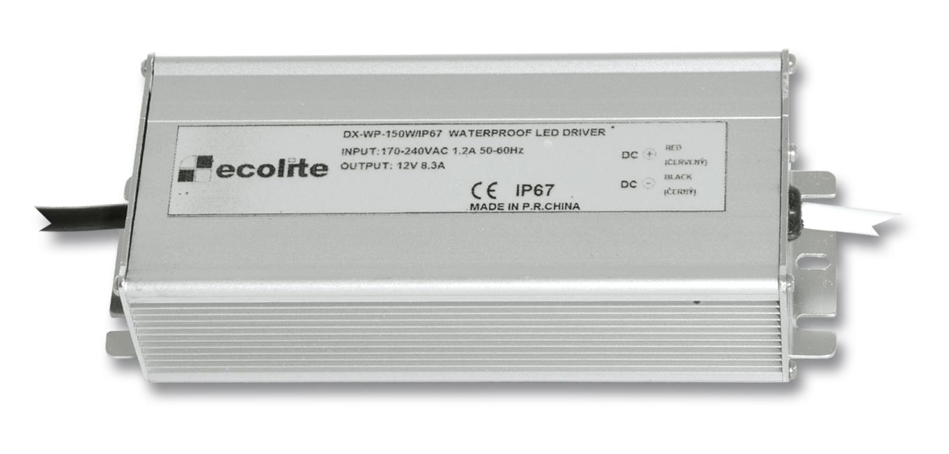 Trafo pro LED pásky, 230V-12V, 12.5A, 150W