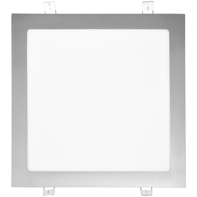 LED panel čtvercový do podhledu 30x30cm, 25W, 2700K, IP20, 2240Lm chrom