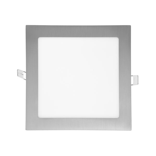 LED panel čtvercový do podhledu 17x17cm, 12W, 4100K, IP20, 880Lm chrom