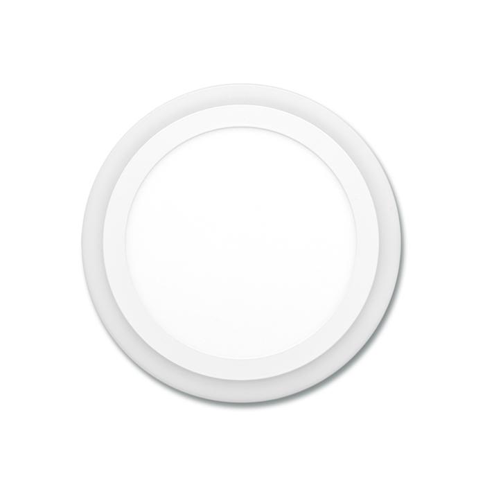 Dvojbarevný LED panel kruhový do podhledu 14,5cm, 6W+3W, 4000K+2700K bílý