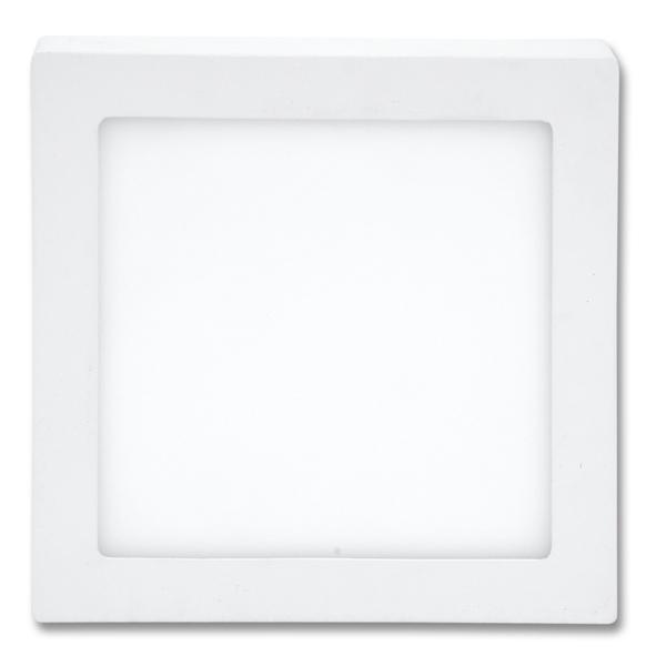 LED panel čtvercový přisazený 22,5x22,5cm, 18W, 4100K, IP20, 1550Lm bílý
