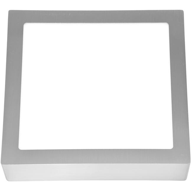 LED panel čtvercový přisazený 30x30cm, 25W, 2700K, IP20, 2240Lm chrom