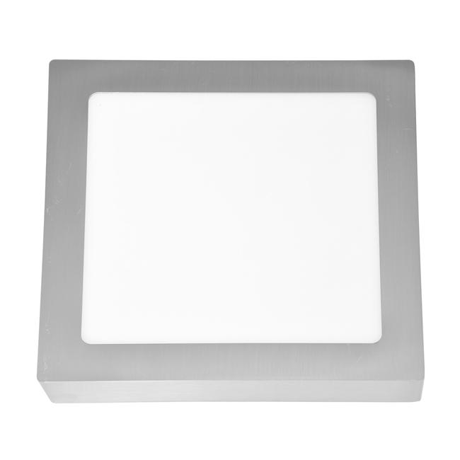 LED panel čtvercový přisazený 22,5x22,5cm, 18W, 2700K, IP20, 1530Lm chrom