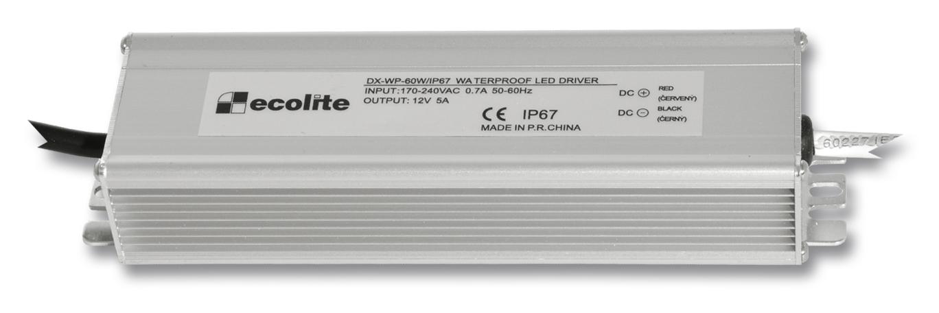 Trafo pro LED pásky, 230V-12V, 5A, 60W