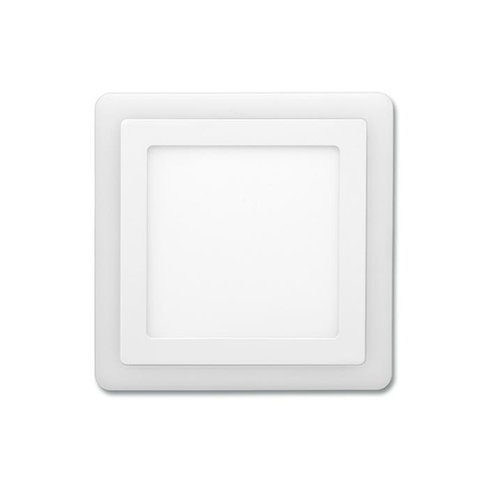 Dvojbarevný LED panel čtvercový do podhledu 14,5x14,5cm, 6W+3W, 4000K+2700K bílý