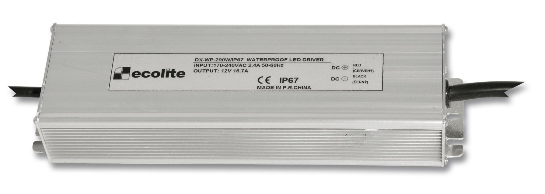 Trafo pro LED pásky, 230V-12V, 16.7A, 200W