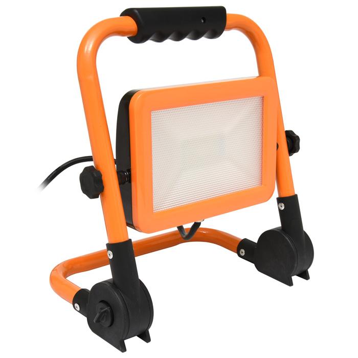 LED reflektor podst., 100W, 4000K, 8000lm, IP65, oranž